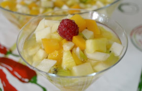 Obstsalat ohne Kohlenhydrate