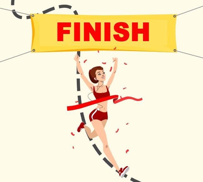 abnehmen finish