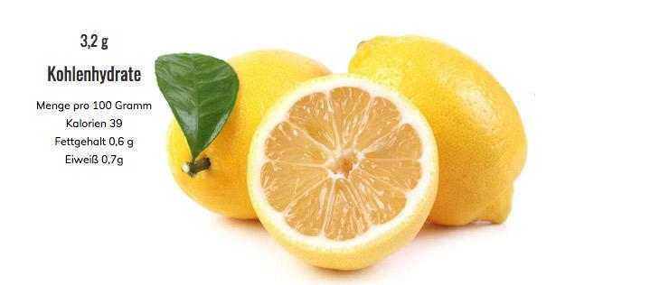 Zitronen Kohlenhydrate